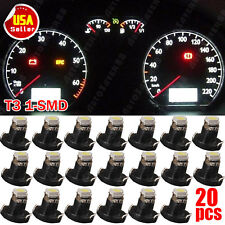 20x White 1206 SMD T3 Neo Wedge 1 LED Cluster Instrument Dash Lights New 8mm US