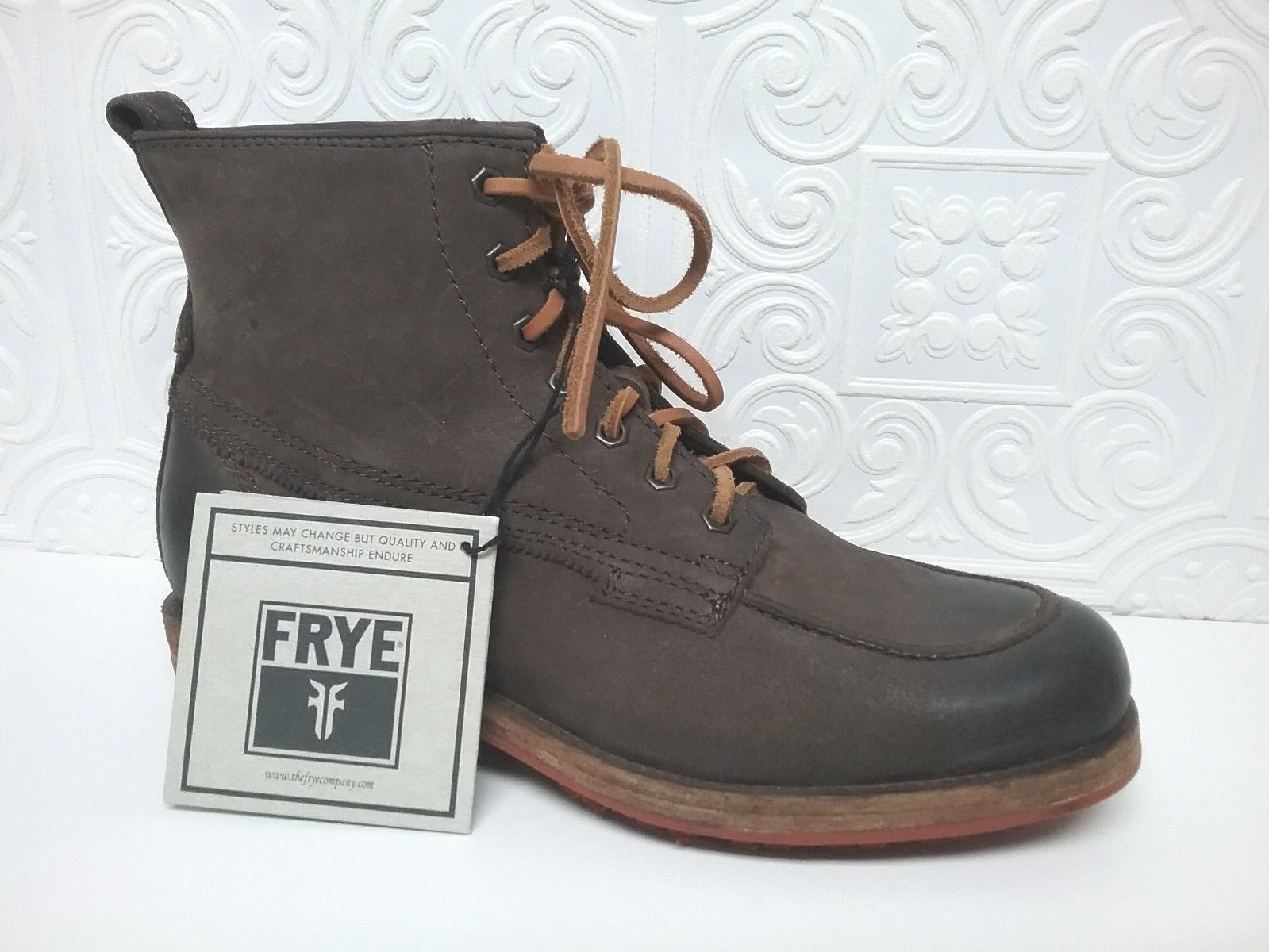 FRYE - 19523 - Men's Brown Suede Leather Boots - Size 7.5