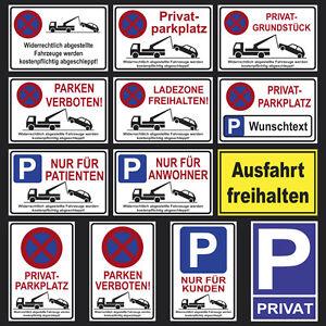 Parkverbot,Kein Parkplatz Verbot Privatgrundstück Schild Durchfahrt verboten