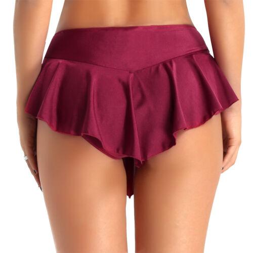 Women Adult Ballet Dance Wrap Skirt Skate Dancewear  Leotard Short Tutu Skirts