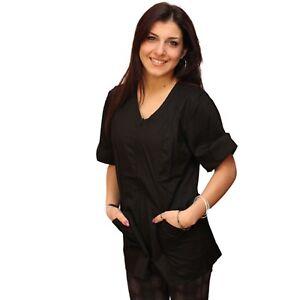 Petersabitidalavoro Camice da Lavoro Donna con Zip Estetista Parrucchiera Cuoca OSS Infermiera Dentista