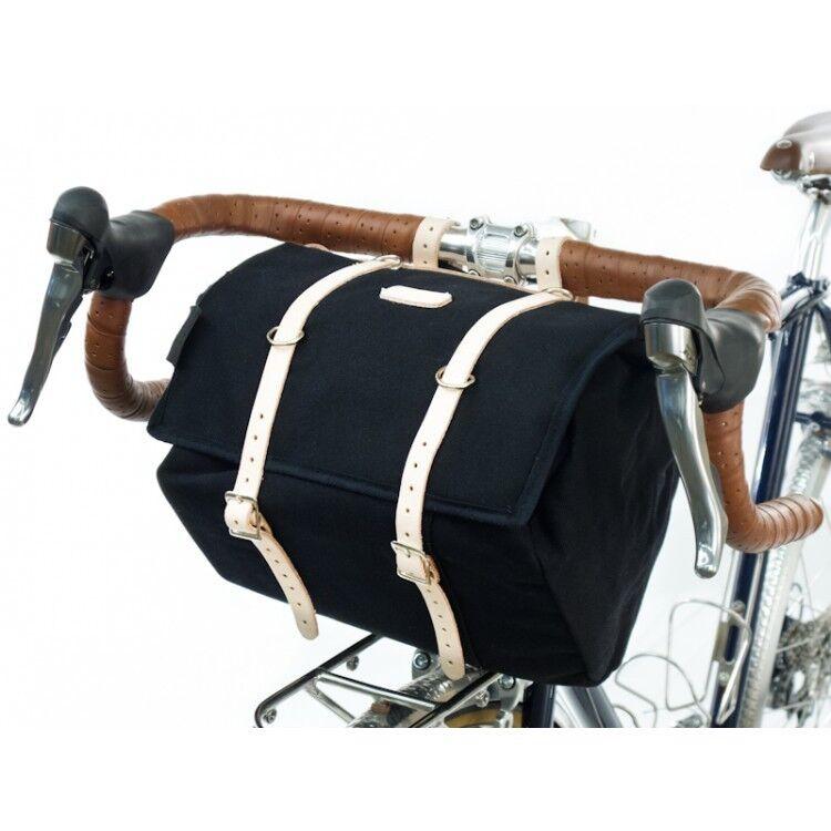 Nuevo medio de cuero Minnehaha Canvas & Bolsa sillín para bicicletas tradicionales