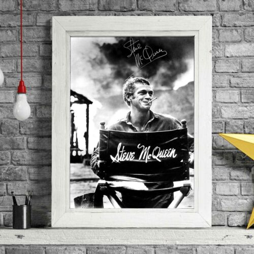 STEVE MCQUEEN Movie Star Poster Picture Print Sizes A5 to A0 *FREE DELIVERY**