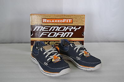 Men's Skechers Memory FoamRelaxed Fit, Expected Orman Shoes, 64695, Navy
