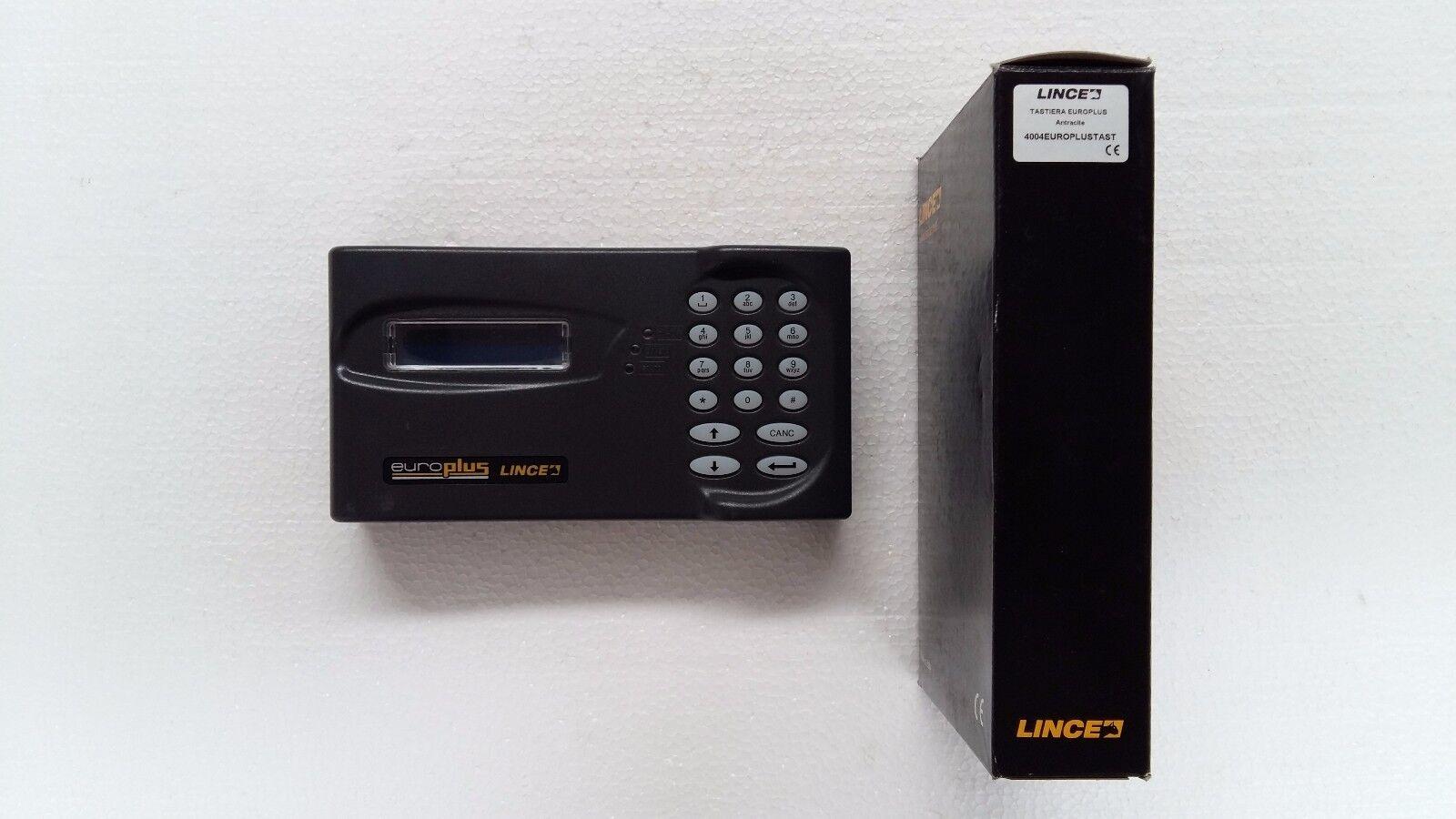 LINCE 4004 EUROPLUSTAST tastiera display LCD antracite per EUROPLUS e GR868