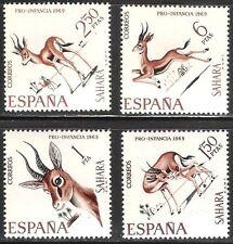 SAHARA SPAGNOLO COLONIE - - 1969-FAUNA INDIGENE-antilopi GAZZELLE-Gomma integra, non linguellato