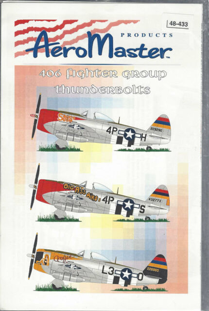 Aeromaster Decals 1/48 406 Fighter Group Thunderbolts 48-433