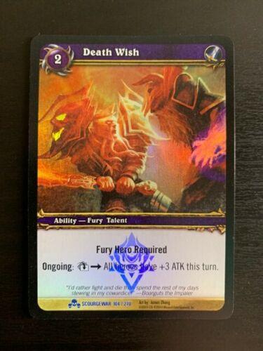 World of Warcraft WoW TCG Promo Foil Death Wish
