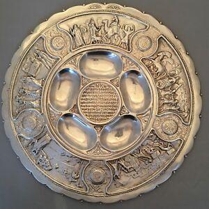 Bezalel Passover Seder Plate Judaica Antique Betzalel Seder plate Kaarah