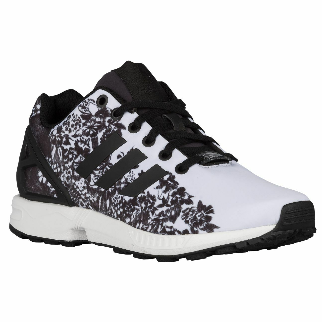 best authentic 280e8 b4cb5 36342 e771a  authentic new femmes adidas originals flux chaussures size 6.5  color chaussures blanc noir e6fddf 9232e b1112