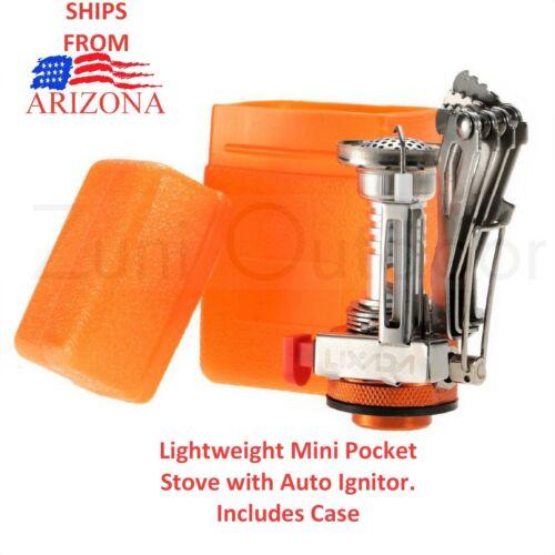 Ultralight Backpacking Camping Stove Pocket Rocket Auto Ignition SHIPS ARIZONA!