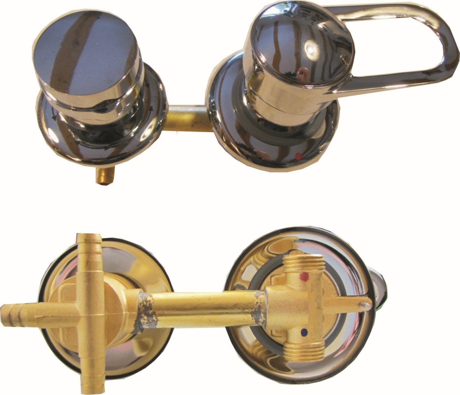 Armatur Einhebelmischer 12,5 cm 3 fach Umschalter Duschkabine Duschtempel Dusche