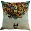 45x45 cm Schmetterling Ballon Kissenhülle Kissenbezug Sofakissen Dekokissen Haus