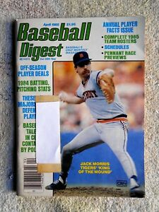 Apr-1985-Baseball-Digest-Jack-Morris-On-Cover-VF