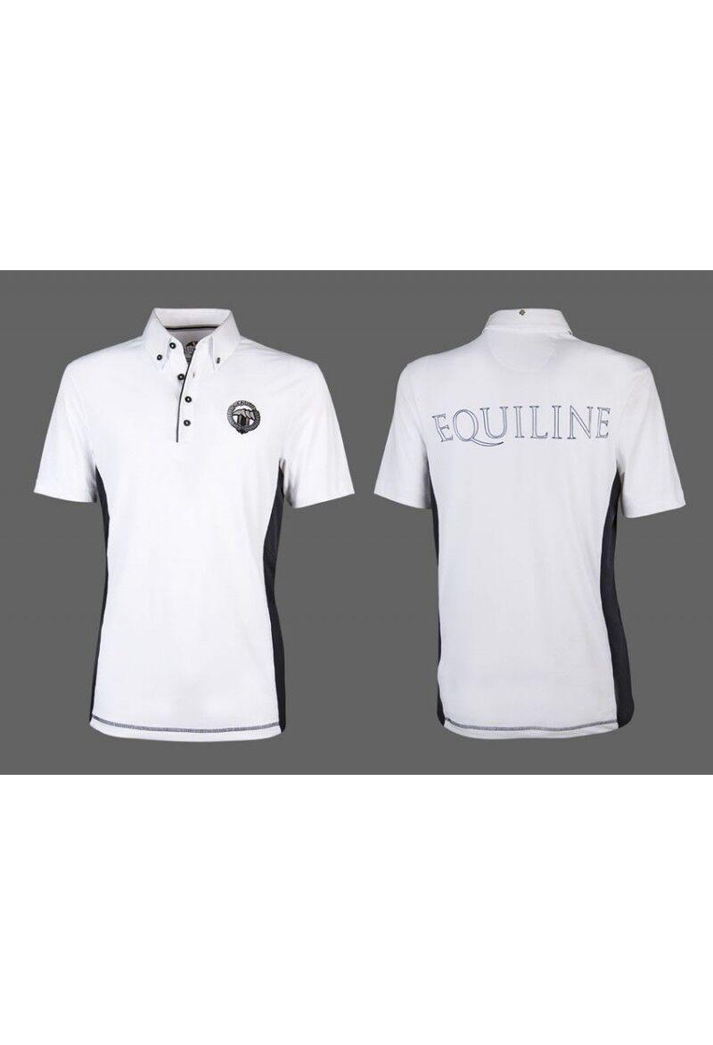 Equiline Zac Boys competencia Polo Camisa blancoa 10 11
