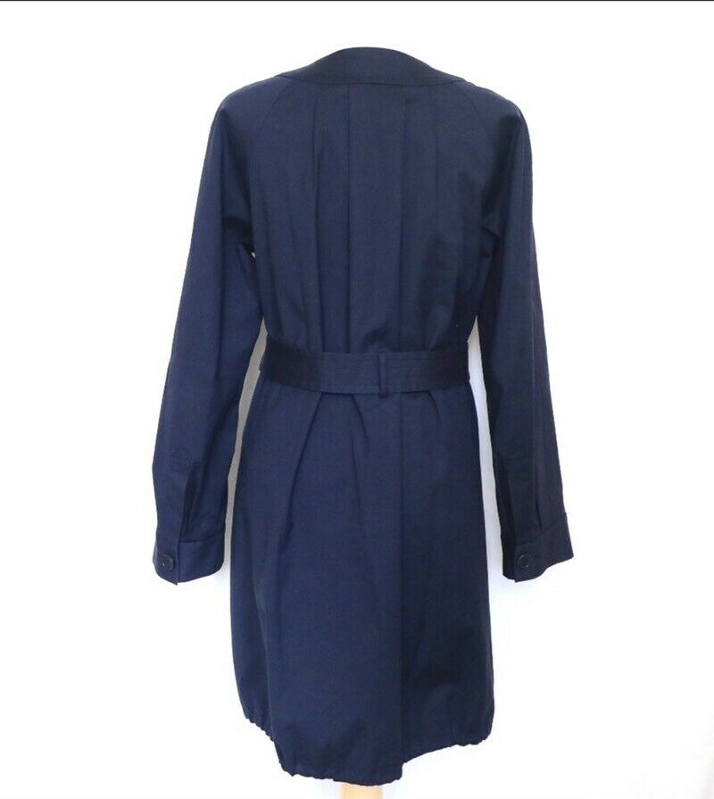 THEORY Women's Navy Blue Idola Connect Trench Coa… - image 4