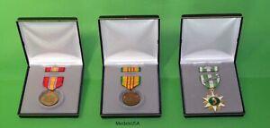 Vietnam-Veteran-3-Medal-Display-Presentation-Gift-set-Defense-Service-Campaign