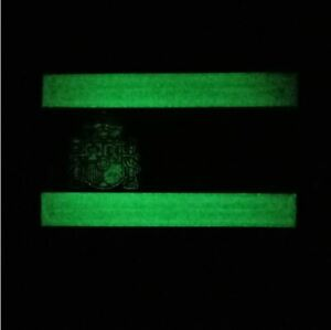 Airsoft-SPAIN-PATCH-TAN-Parche-PVC-3D-Bandera-Espanola-75-x-50-mm-fluorescente