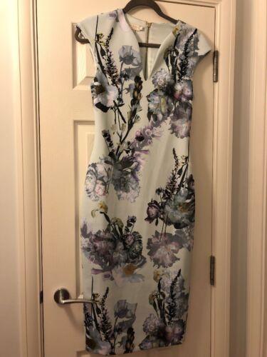 misura Ginocchio Dress Below Ted Baker 2 Long montato Flowers XS60X7nqxT