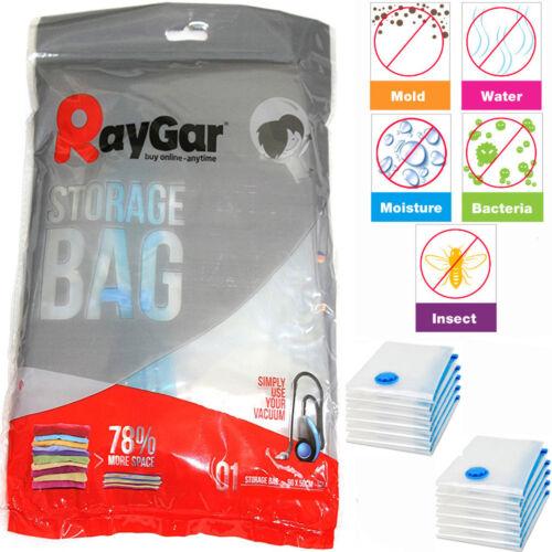 Raygar 12 Pack 50 X 90 Sacs Stockage Compressé Sous Vide Gain Espace Joint Acc Sac