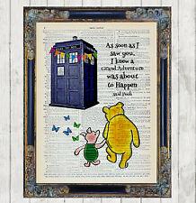 Winnie Pooh Pimpi Tardis Doctor Who avventura DIZIONARIO Art Stampa Preventivo Regalo