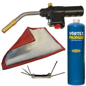 Details about Faithfull MAPP Gas Blow Torch Piezo Ignition Plumbers Heat  Mat FREE Screwdriver