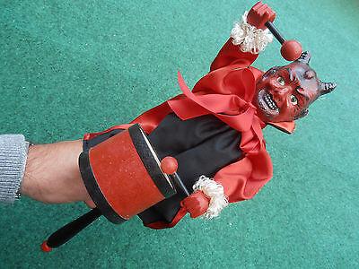 old Germany devil punch harlequin Doll marionette 1920
