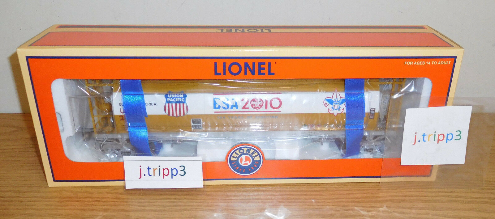 Lionel 27449 Boy Scouts BSA Tolva cilíndrica tren escala de América Union Pacific