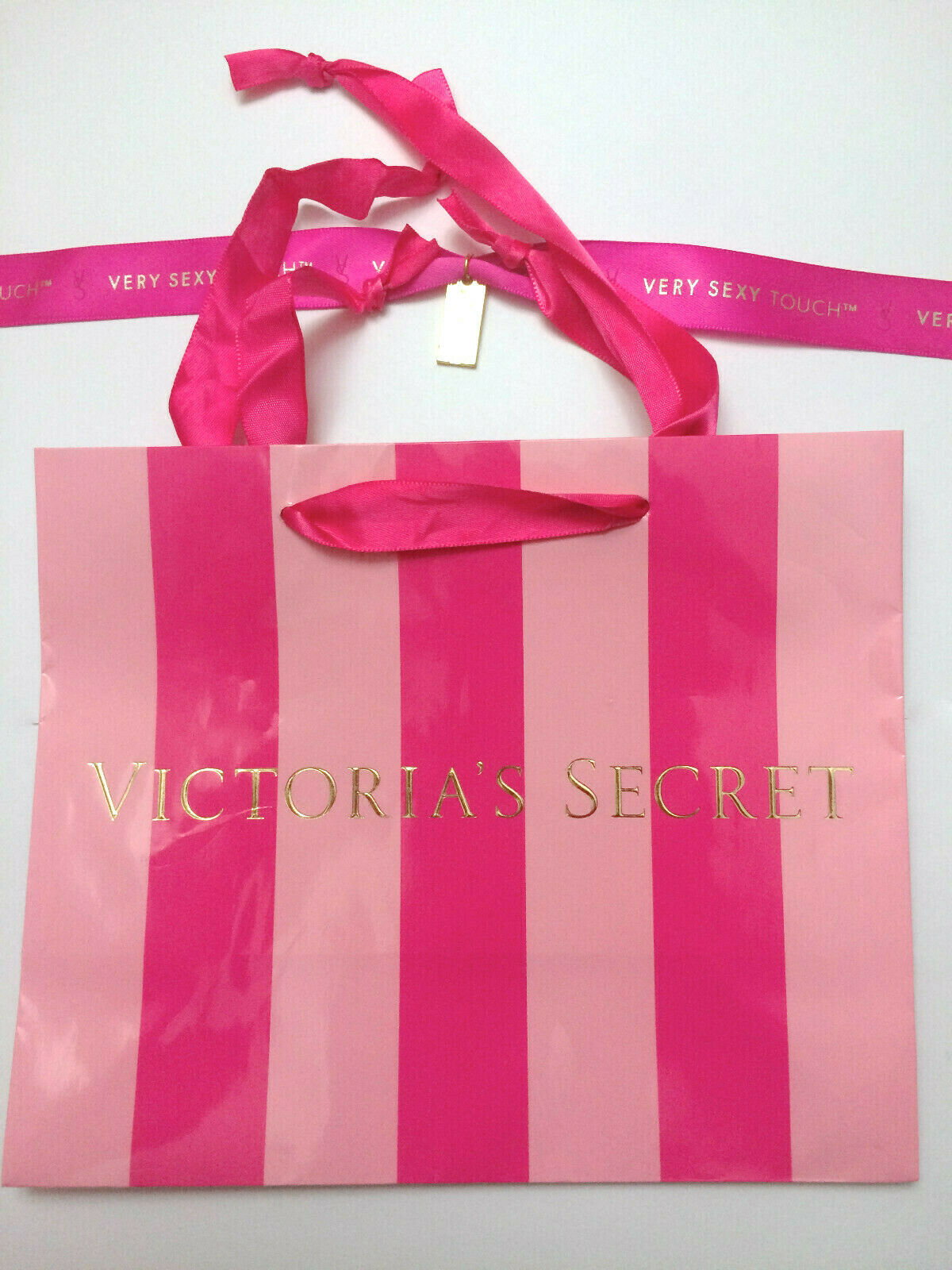 STRIPE Holiday Small GIFT Shopping PAPER BAG LOT VICTORIA/'S SECRET PINK DOG