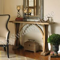 Luxe Open Pine Wood Console Table Architectural Sofa Hall Horchow Contemporary