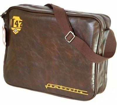 Mens LAMB202  waxy brown shoulder bag by LAMBRETTA  Retail £14.99