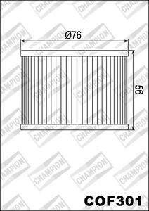 COF301-Filtro-De-Aceite-CHAMPION-Kawasaki-Z1100-A1-A2-A3-1100-1981-1982-1983