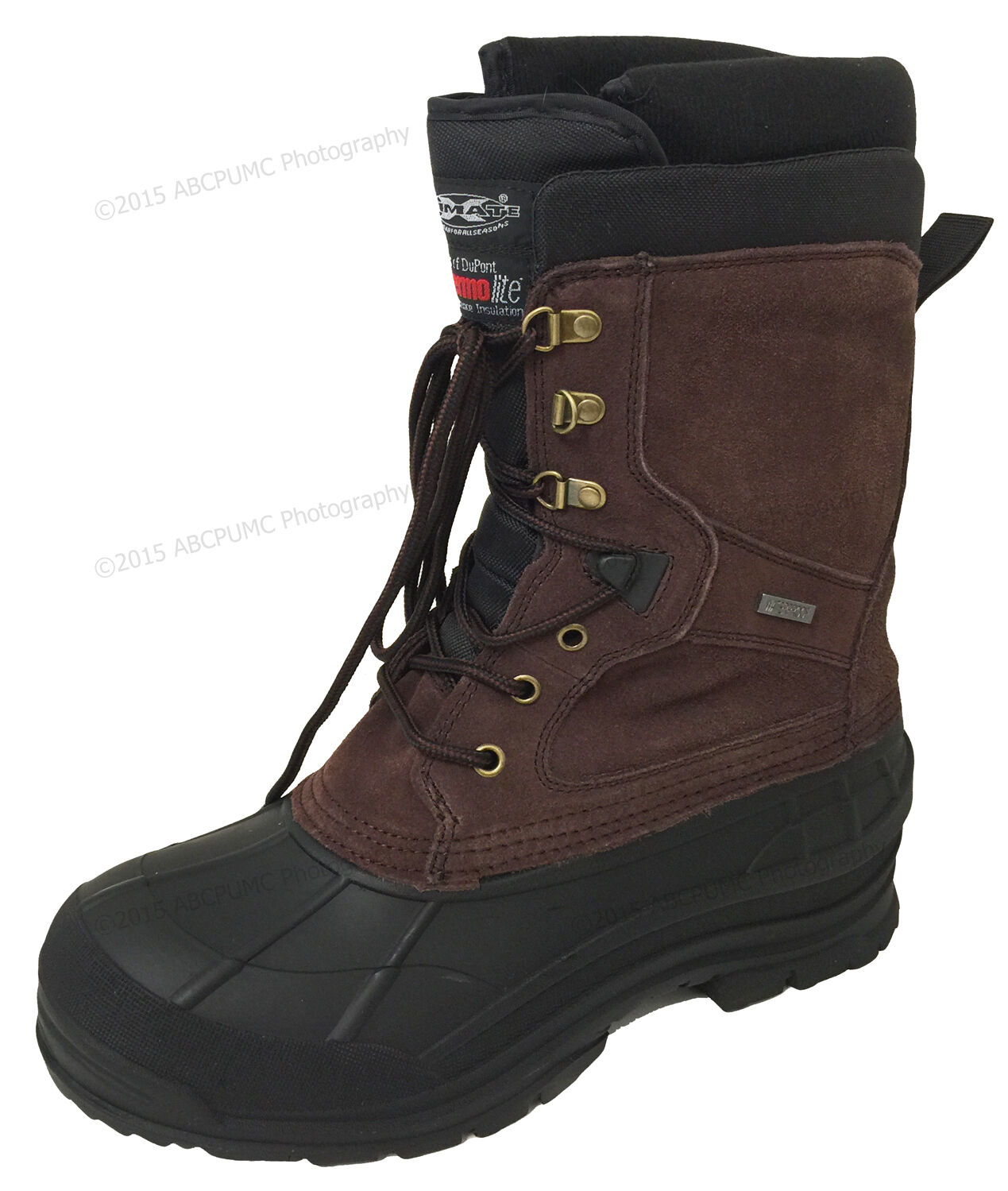 Mens Winter Boots 10  Leather Thermolite Waterproof Hiking Snow shoes Size 6.5-13