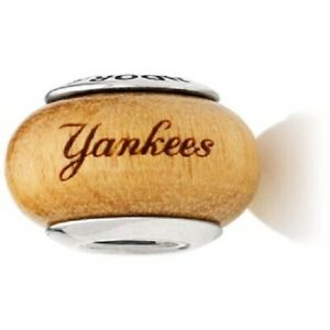 Authentic Pandora 925 790705 G019 New York Yankees Wood