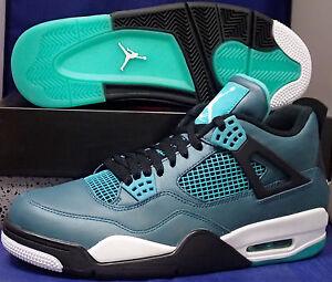 super popular 6cda4 e37fa Image is loading Nike-Air-Jordan-4-IV-Retro-30th-Teal-