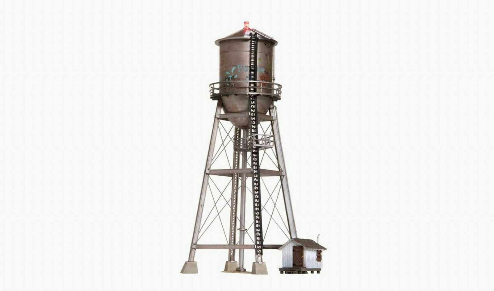 Woodland Scenics construido y listo Rústico estructura de escala HO torre de agua