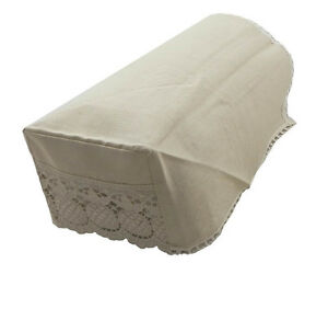 Image Is Loading Linen Traditional Chair Arm Covers Amp Backs