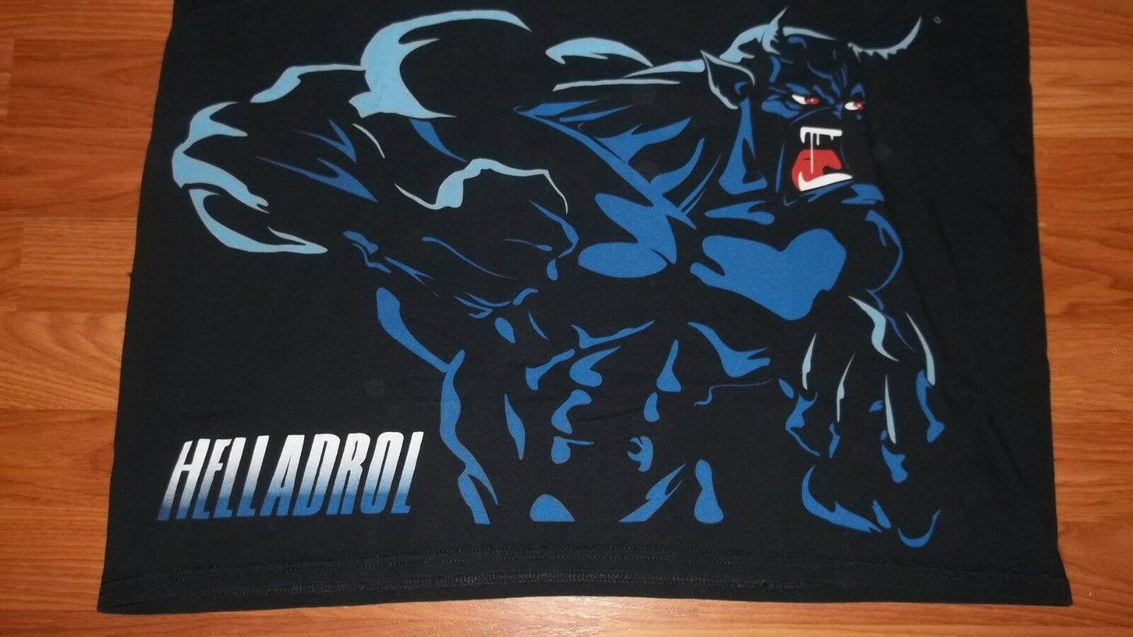 Very Rare Muscle Booster HELLADROL Banned steroid XL supplement T-Shirt XL steroid mens 74825a
