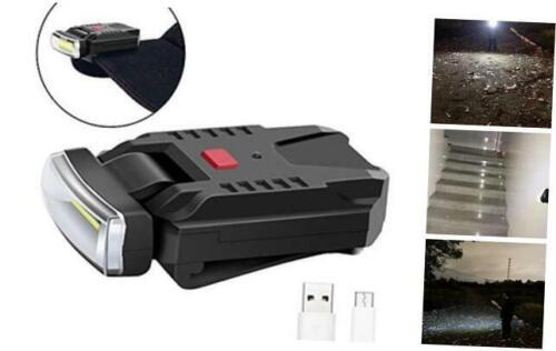 FISHNU Cob 5 Watts Clip-on Cap Lamp,Usb Rechargeable Clipmate Cap Floodlight,Wid