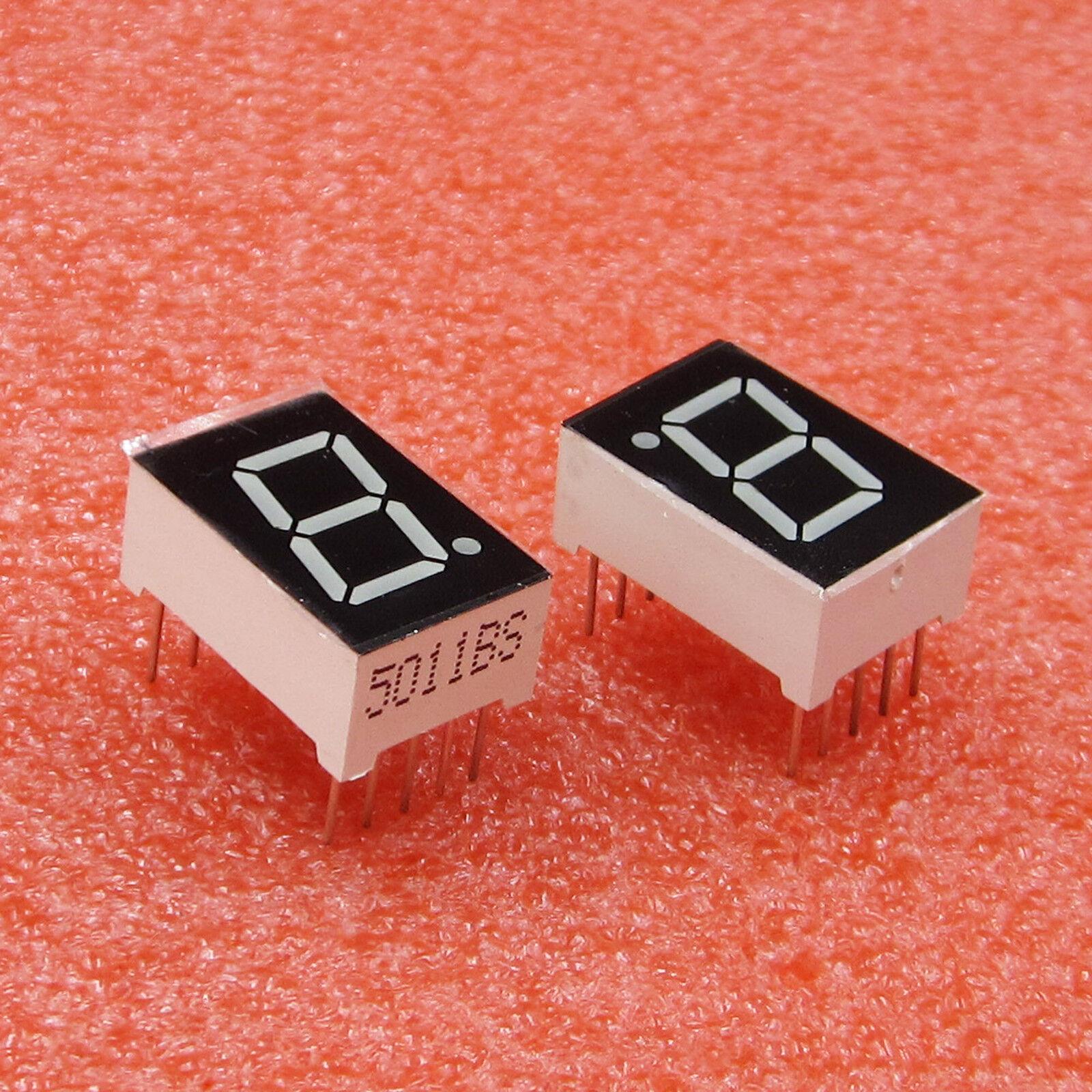 "10PCS 1 Bit Red 7 Segment 0.5/"" LED Display Digital Tube Common Anode"