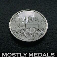 Franklin Mint Sterling Silver Mini-Ingot: 1933 F.D.R. Inaugurated President