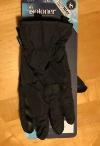 Sleekheat Smartdri Smartouch Black Men/'s L//XL $56 NEW ISOTONER PACKABLE GLOVES