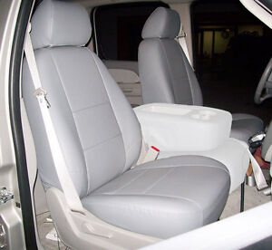 CHEVY SILVERADO 2007-2013 GREY IGGEE S.LEATHER CUSTOM FRONT SEAT COVER | eBay