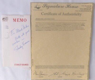 Autographs-original Cheap Sale Stanley Kramer Signed Letter