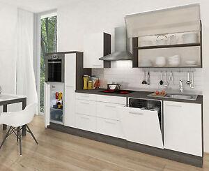 RESPEKTA Premium CUCINA Cucinino incasso 310 cm rovere grigio bianco ...
