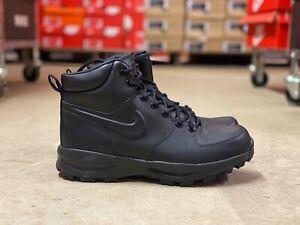 Nike-Manoa-Mens-Leather-Water-Resistant-Work-Boots-Triple-Black-454350-003-Multi