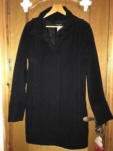 10 And 100 Wool Pepe Patrizia Black Coat Angora Uk nR81qx4g