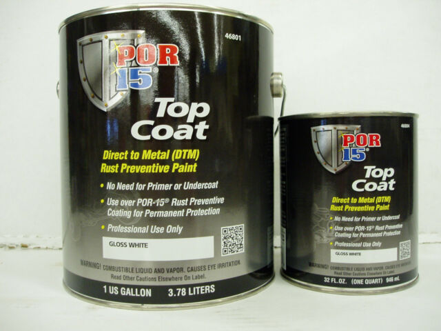 New Por 15 Gloss White Top Coat Gallon 46801