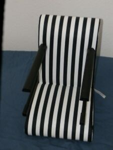 Tremendous Details About American Girl 18 Doll Chair Table Seat Black White Stripes Booster Retired Machost Co Dining Chair Design Ideas Machostcouk
