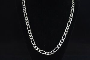 16 inch Sterling Silver Heavy Figaro Chain.